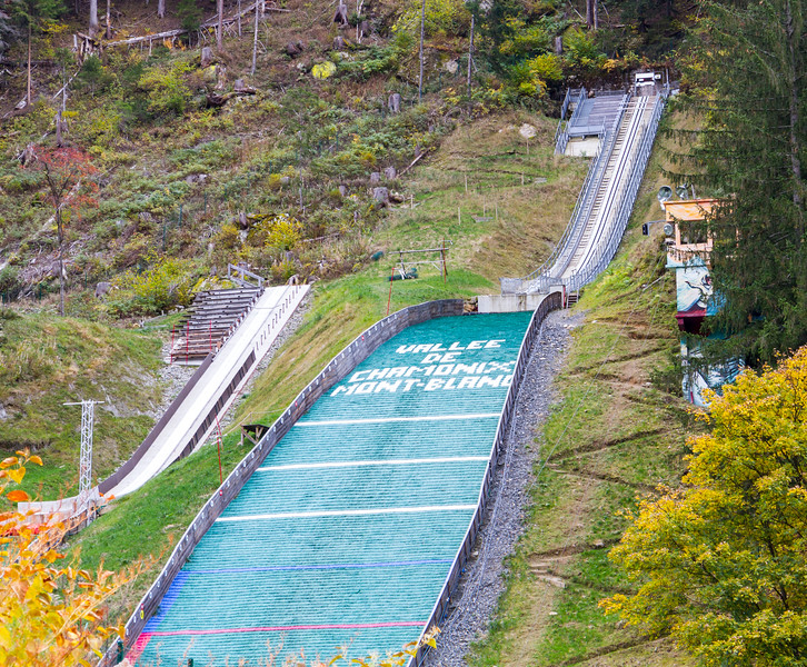 Chamonix: I'd never seen a real ski jump before.  It'd take some guts to go off of that!