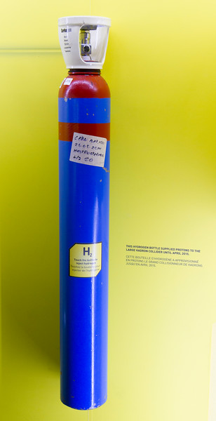 CERN: This canister provided the hydrogen that was used to give protons to the Large Hadron Collider.  It didn't take much!