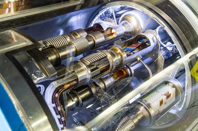 CERN: The interior of one of the magnetic tubes.