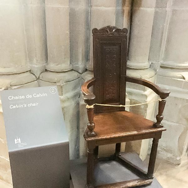 Geneva: John Calvin's chair.