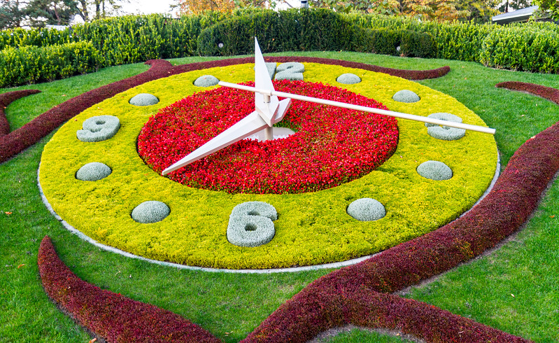 CERN: The flower clock...an iconic view of Geneva.
