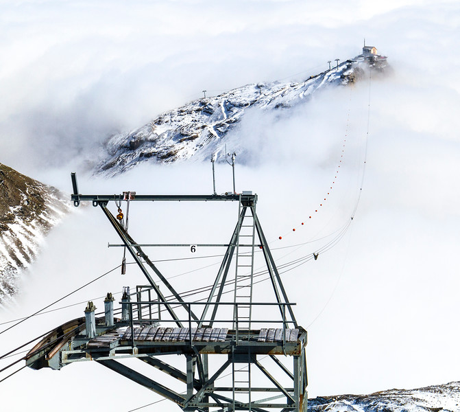 Schilthorn: This mountain above Mürren was above the clouds when I visited it.  It was a neat experience to be in a cablecar as it pierces out the top of the clouds to be surrounding by Alps on all sides!