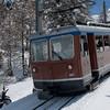 Cog rail train to, Kulm Gornergrat Hotel Restaurant overlookiny Matterhorn , Zermatt