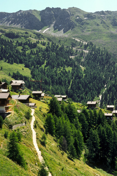The highest year-around village in Europe, Chandolin. I took a post bus up to this village from Sierre.
