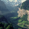 Mürren to the right on the cliff