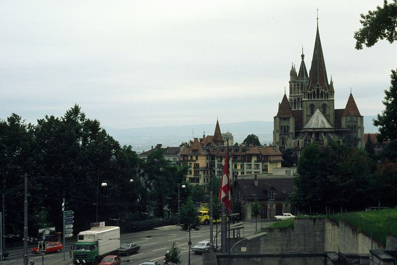 Lausanne at the lake of Geneva