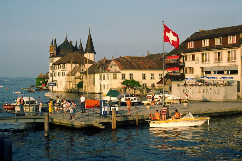Leaving Stein am Rhein for a ferry trip at lake Untersee.