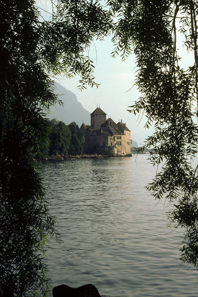 The castle Chillon just outside Montreaux