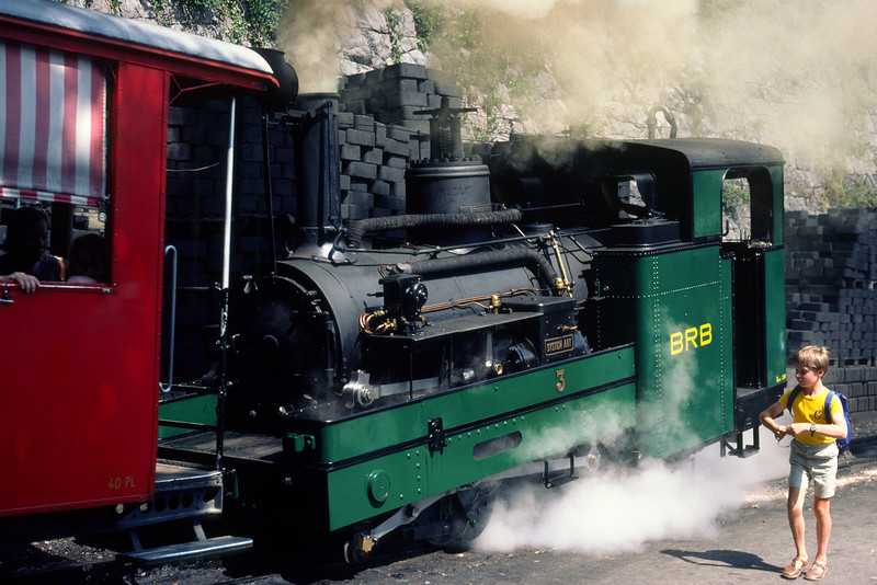 It's possible to go by a steam train from Brienz at 566 m up to Brienzer Rothorn at 2350 m