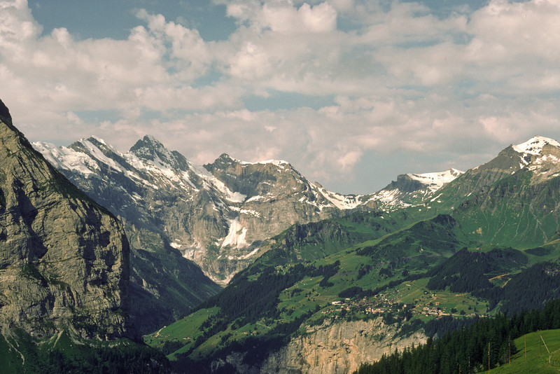 View towards Mürren