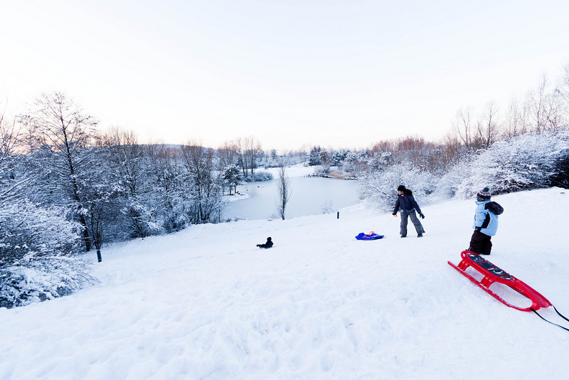 A perfect day for sledding.