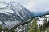 Zermatt from the train ride to Gornergrat.