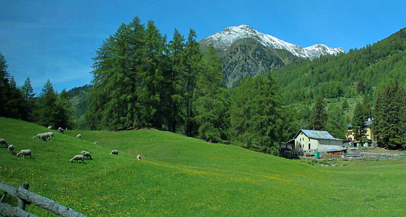 Somewhere between Innsbruck and St. Moritz, taken through the bus window.