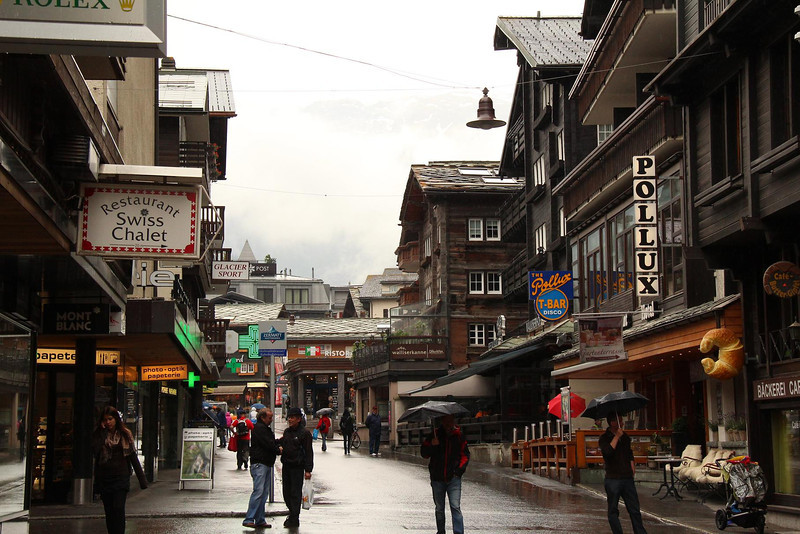 Zermatt. We stayed at the Pollux Hotel on the right-in the heart of the city.