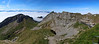 Not as panoramic as the previous photo, but taken with vertical images to show more detail of the mountain.