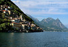 Lake Lugano, Switzerland, where we took a boat ride to a nice, private catered meal at a small restaurant at the water's edge. Weather was quite nice.