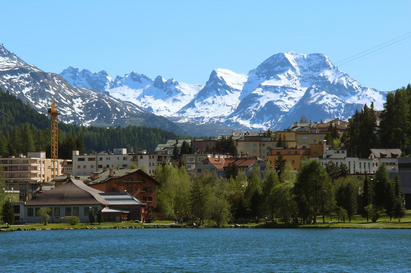 Lake St. Moritz, Switzerland.