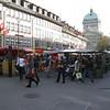 Bern - a local street market.