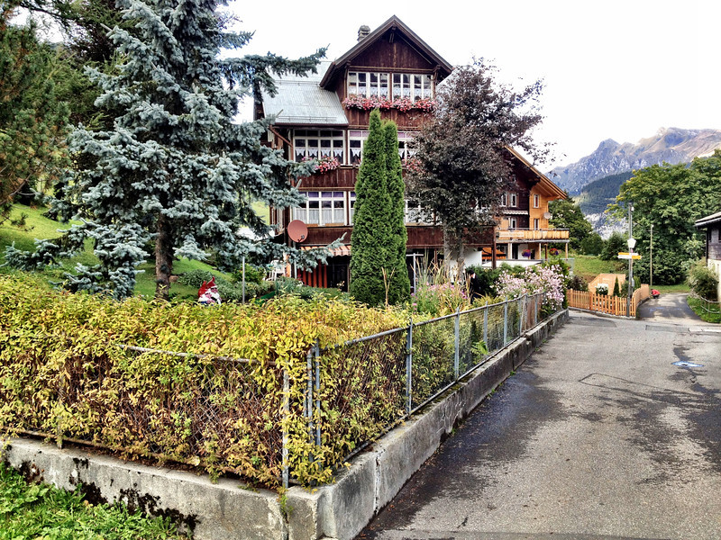 Gimmelwald - one of the distinctive buildings in the small town.