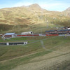 Kleine Scheidegg - this was taken from the train so isn't the best quality, but it shows the small station area and trains.