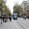 Zürich - this is one of the streets near the main rail station, which is a popular shopping area.
