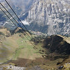 Shilthorn - Piz Gloria - this is a view from the Cable Car, looking down towards Mürren.
