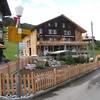 Gimmelwald - this is Esther's Guesthouse, which is located just above the Cable Car station.  Work crews were putting the finishing touches on the elaborate garden in front of the building.  Renovations were being done on the Guesthouse during my previous visit in 2006.
