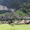 Lauterbrunnen - another view of the small town, as seen from the other side of the valley on the rail trip down from Wengen.