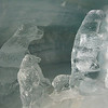 Jungfrau - some of the complex ice carvings which were on display in the Ice Palace.