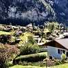 Lauterbrunnen - this is a view of part of the town across the river from where I was staying.