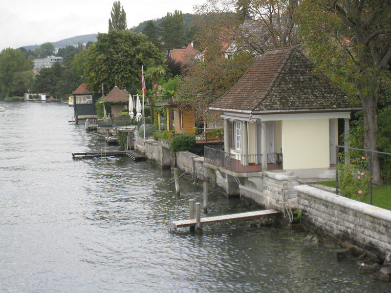 Zürich - these are some of the distinctive boat houses attached to the posh homes that lined the waterfront.
