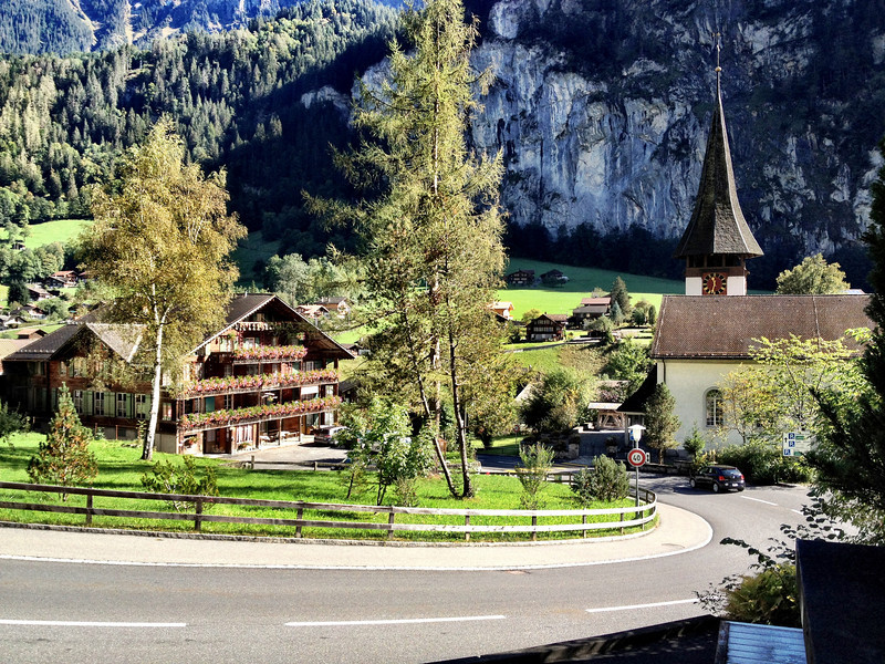 Lauterbrunnen - the local Church and another view of the town.