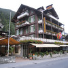 Lauterbrunnen - this is Hotel Oberland, my comfortable home while I was visiting the Berner Oberland, with the restaurant patio in the front (the food is excellent!).