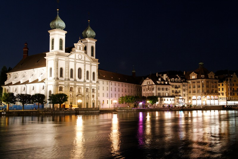 Lucerne - looking across the river