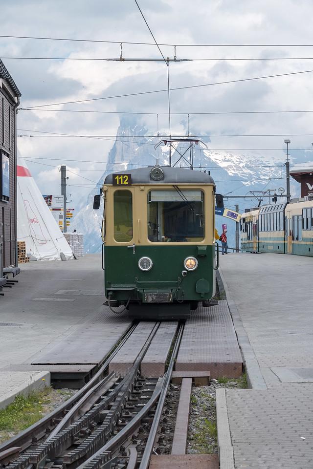 Kleine Scheidegg station- 6700 feet up