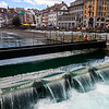 The Dam on the Reuss River, Lucerne