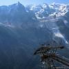 Aiguille du Midi, le Mont-Blanc du Tacul, le Mont Maudit from Brévent