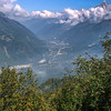Views of the Chamonix valley below
