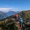 High above the valley en route to Col de Balme