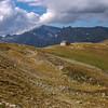 Looking back to Col de Balme en rout to Col de Forclaz near Trient