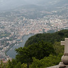 Switzerland / Lugano - this is a view of Lugano from the top of the Church on Mount San Salvatore.  The weather was somewhat hazy, but it provides some idea of the size of the city.