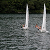 Switzerland / Lugano - the overcast and cool weather didn't stop this group from getting out on the lake and enjoying some water sports.