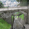 Switzerland / Lugano - this is a view of the city from the Funicular, on the way down from the top.