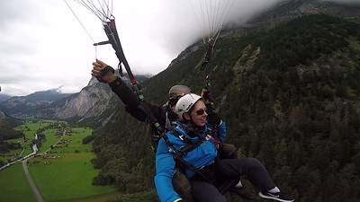 Paragliding above the Lauterbrunnen Valley