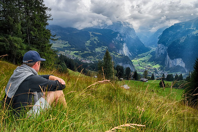 Hiking above Wengen