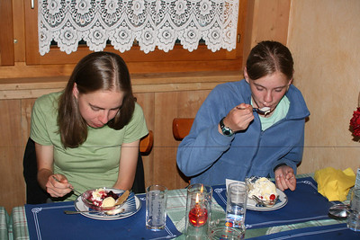 Aunika ate several banana splits and Kjirsten couldn't resist the kugen.