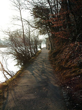 Narrow path in Interlaken