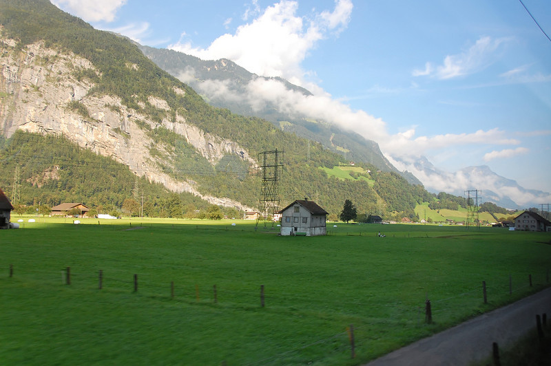View from the William Tell Express train between Luzern and Lugano