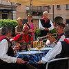 Street festival singers in Bellinzona, Switzerland
