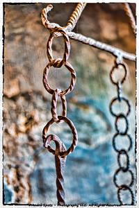 Chains inside the Chillon Castle